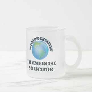 World's Greatest Commercial Solicitor Frosted Glass Mug