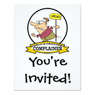 WORLDS GREATEST COMPLAINER MEN CARTOON 11 CM X 14 CM INVITATION CARD