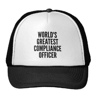 Worlds Greatest Compliance Officer Cap