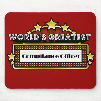 World's Greatest Compliance Officer Mouse Pad