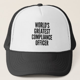 Worlds Greatest Compliance Officer Trucker Hat