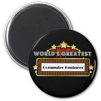 World's Greatest Computer Engineer 6 Cm Round Magnet