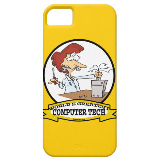 WORLDS GREATEST COMPUTER TECH WOMEN CARTOON BARELY THERE iPhone 5 CASE