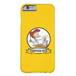 WORLDS GREATEST COMPUTER TECH WOMEN CARTOON BARELY THERE iPhone 6 CASE