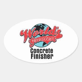 Worlds Greatest Concrete Finisher Oval Sticker