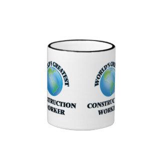 World's Greatest Construction Worker Ringer Coffee Mug