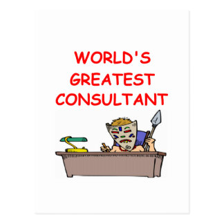 world's greatest consultant postcard