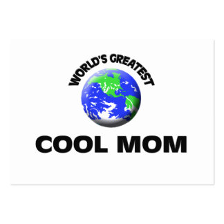 World's Greatest Cool Mom Business Card Template