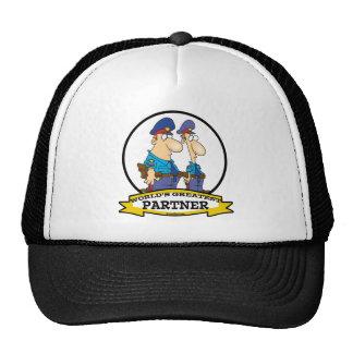 WORLDS GREATEST COP POLICE PARTNER MEN CARTOON CAP
