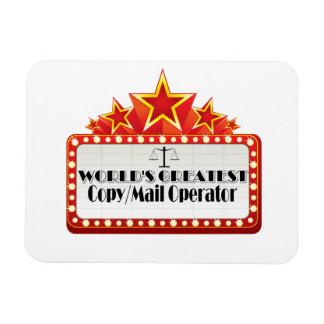 World's Greatest Copy Mail Operator Rectangular Photo Magnet