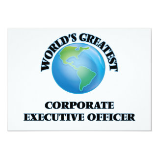 World's Greatest Corporate Executive Officer Personalized Invitations