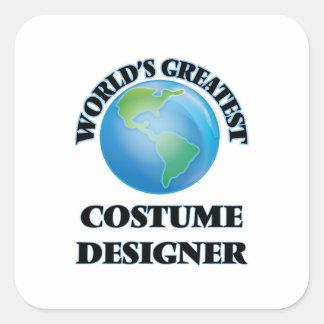 World's Greatest Costume Designer Square Sticker
