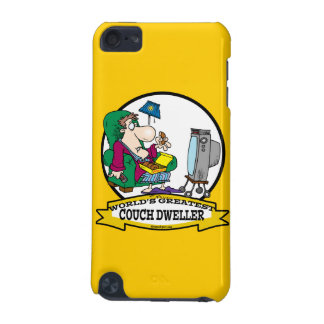 WORLDS GREATEST COUCH DWELLER CARTOON iPod TOUCH (5TH GENERATION) CASES