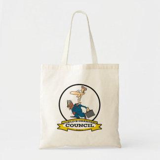WORLDS GREATEST COUNCIL MEN CARTOON BAG