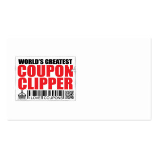 World's Greatest Coupon Clipper Pack Of Standard Business Cards