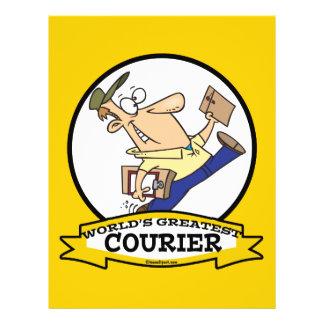 WORLDS GREATEST COURIER MEN CARTOON 21.5 CM X 28 CM FLYER