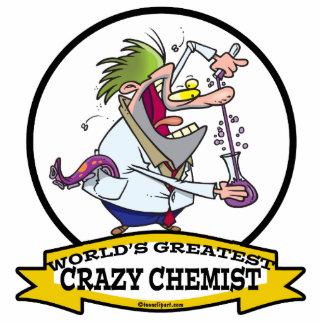 WORLDS GREATEST CRAZY CHEMIST MEN CARTOON ACRYLIC CUT OUT