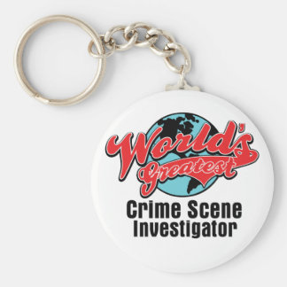 Worlds Greatest Crime Scene Investigator Keychain