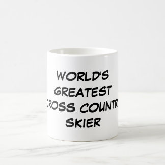 """World's Greatest Cross Country Skier"" Mug"