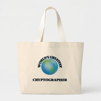 World's Greatest Cryptographer Canvas Bags