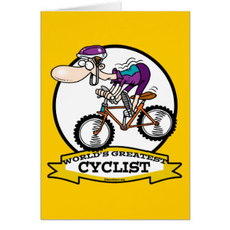 WORLDS GREATEST CYCLIST MEN CARTOON GREETING CARDS