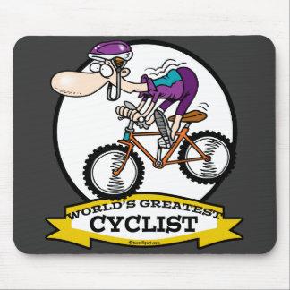 WORLDS GREATEST CYCLIST MEN CARTOON MOUSE MAT