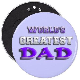 World's Greatest Dad 6 Cm Round Badge