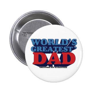 World's Greatest* Dad 6 Cm Round Badge