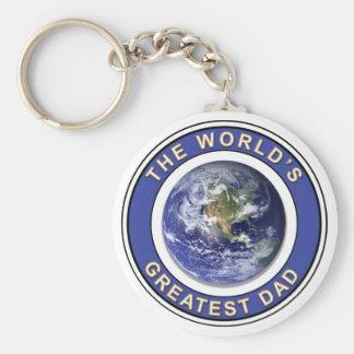 Worlds greatest Dad Basic Round Button Key Ring