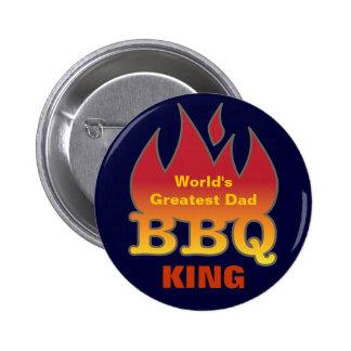World's Greatest Dad BBQ KING 6 Cm Round Badge