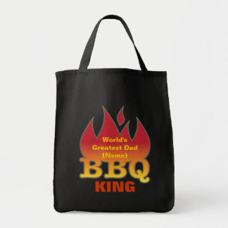 World's Greatest Dad BBQ KING Grocery Tote Bag