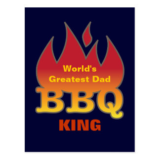 World's Greatest Dad BBQ KING Postcards