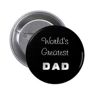 World's Greatest Dad Black Button