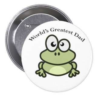 World's Greatest Dad Button Pin