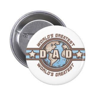 World's Greatest Dad Earth Logo T-shirts Gifts Buttons