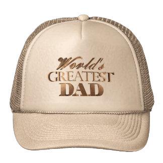 World's Greatest Dad Elegant Chic Gold Typography Cap
