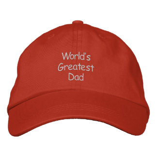 Worlds Greatest Dad Embroidered Hat