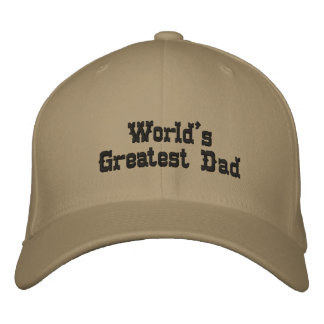 World's Greatest Dad Embroidered Hats