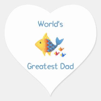 World's Greatest Dad (fish) Stickers