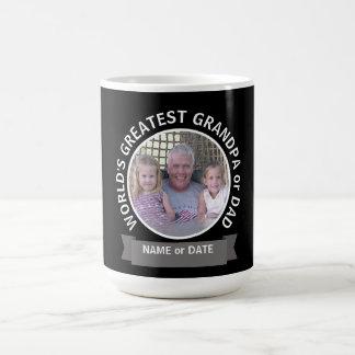 World's Greatest Dad Grandpa Custom Photo Template Coffee Mug