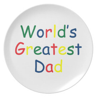 World's Greatest Dad Plate