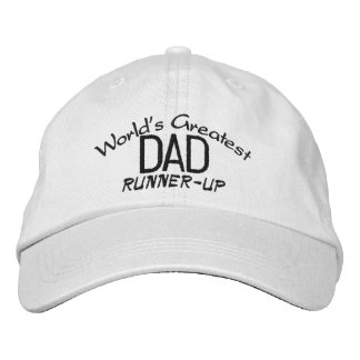 """World's Greatest Dad """"Runner-Up"""" Hat Embroidered Baseball Caps"""