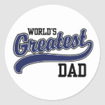 World's Greatest Dad Stickers