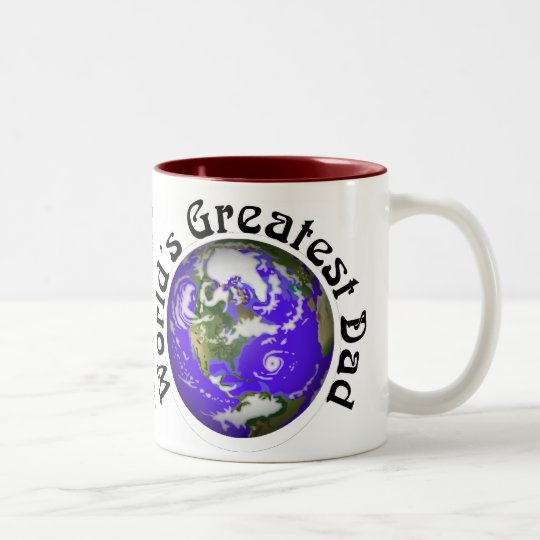 Worlds Greatest Dad! Two-Tone Coffee Mug