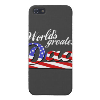 Worlds greatest dad with American flag - Dark Cover For iPhone 5/5S