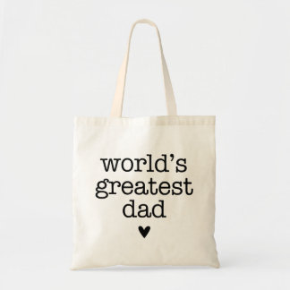 World's Greatest Dad with Heart Father's Day Budget Tote Bag
