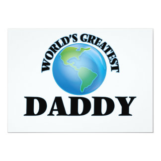 "World's Greatest Daddy 5"" X 7"" Invitation Card"