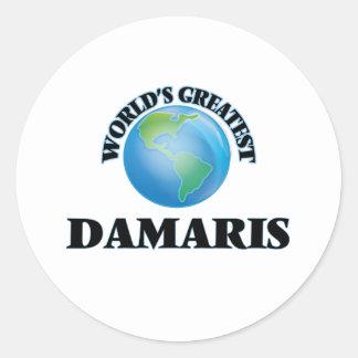 World's Greatest Damaris Round Sticker