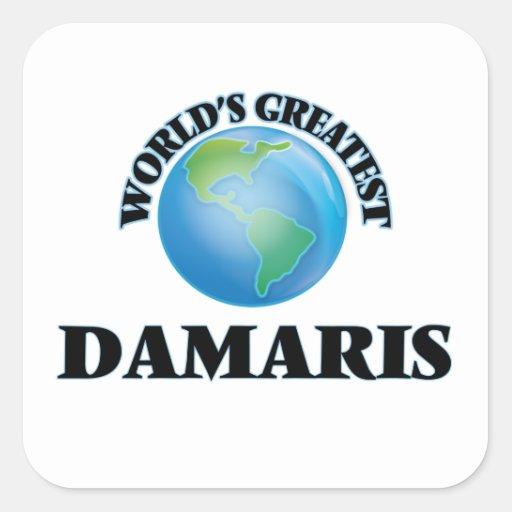 World's Greatest Damaris Square Stickers