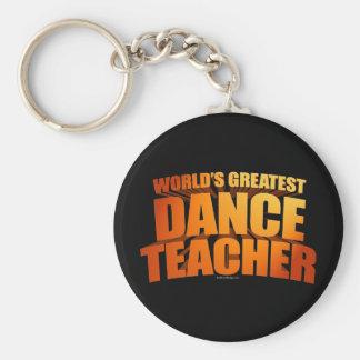 World's Greatest Dance Teacher Basic Round Button Key Ring